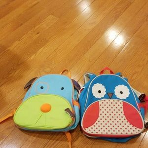 Skiphop  backpack dog & owl 2 for 1 deal